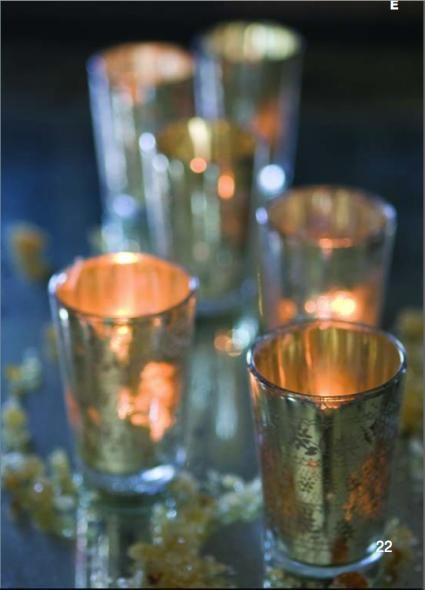 #Mercury #glass #votive holders