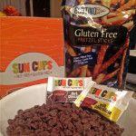 Crunchy Sun Cupped Chocolate Bark with Glutino Pretzels ...