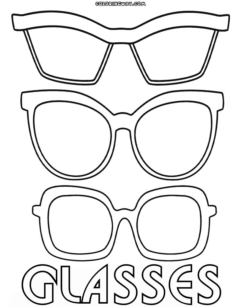 Coloring Pages Of Glasses Genial Glasses Coloring Pages Of Coloring Pages Of Glasses Nouveau Eye Coloring Pages Coloring Pages Inspirational Printable Coloring