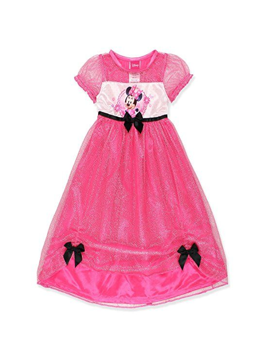 Minnie Mouse Girls Fantasy Gown Nightgown (3T, Pink/Multi) | Disney ...