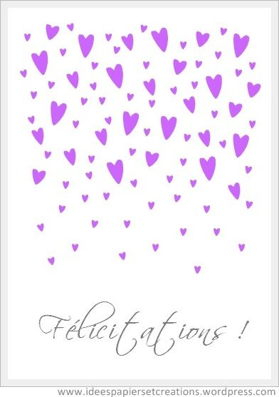 1000 images about cartes anniversaire flicitation bons voeux etc on pinterest - Carte Flicitation Mariage Imprimer Gratuite