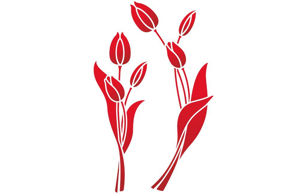 Image issue du site Web http://www.les-decoratives.com/266-thickbox_default/pochoir-152-tulipes.jpg
