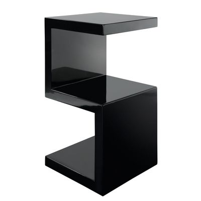 Black S Shaped Table Side