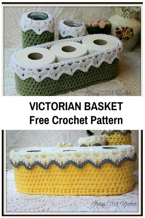 Easy And Super Fast To Crochet Victorian Basket   coqueterias ...