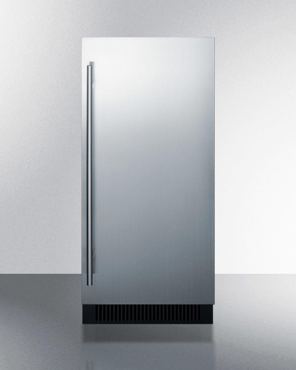 Summit appliance 15 w 32 lb freestanding clear ice maker