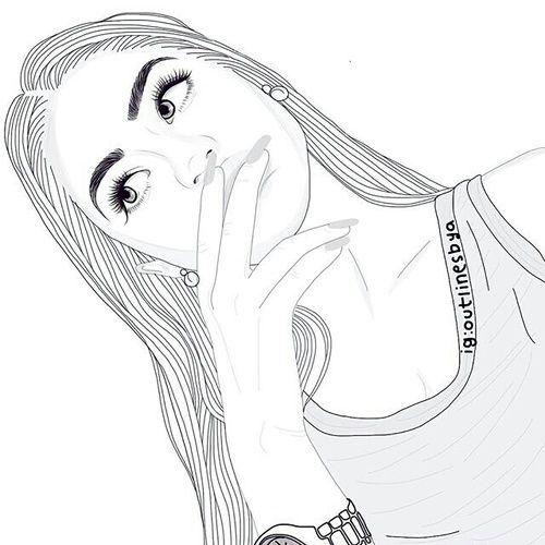 Girl And Outline Image Menina Tumblr Desenho Fotos Tumblr Desenhos Desenhos De Tumblr