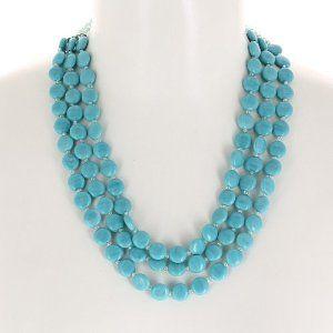coût modéré enfant nouvelle sélection Collier bleu clair en perles - Bijou fantaisie - Idée cadeau ...