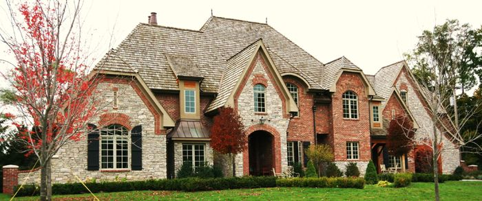 Image stone and brick exterior french country home cozy for French country brick exterior