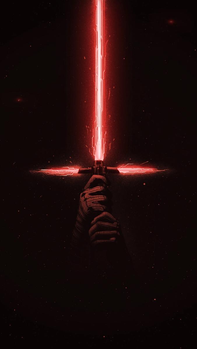 Animation Request Kylo Ren S Lightsaber Video Star Wars Poster Star Wars Art Star Wars Background