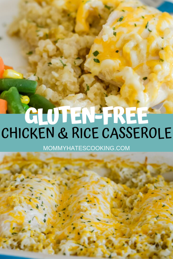 Cheesy Chicken And Rice Gluten Free Recipe Free Chicken Recipes Gluten Free Recipes Easy Gluten Free Recipes For Dinner