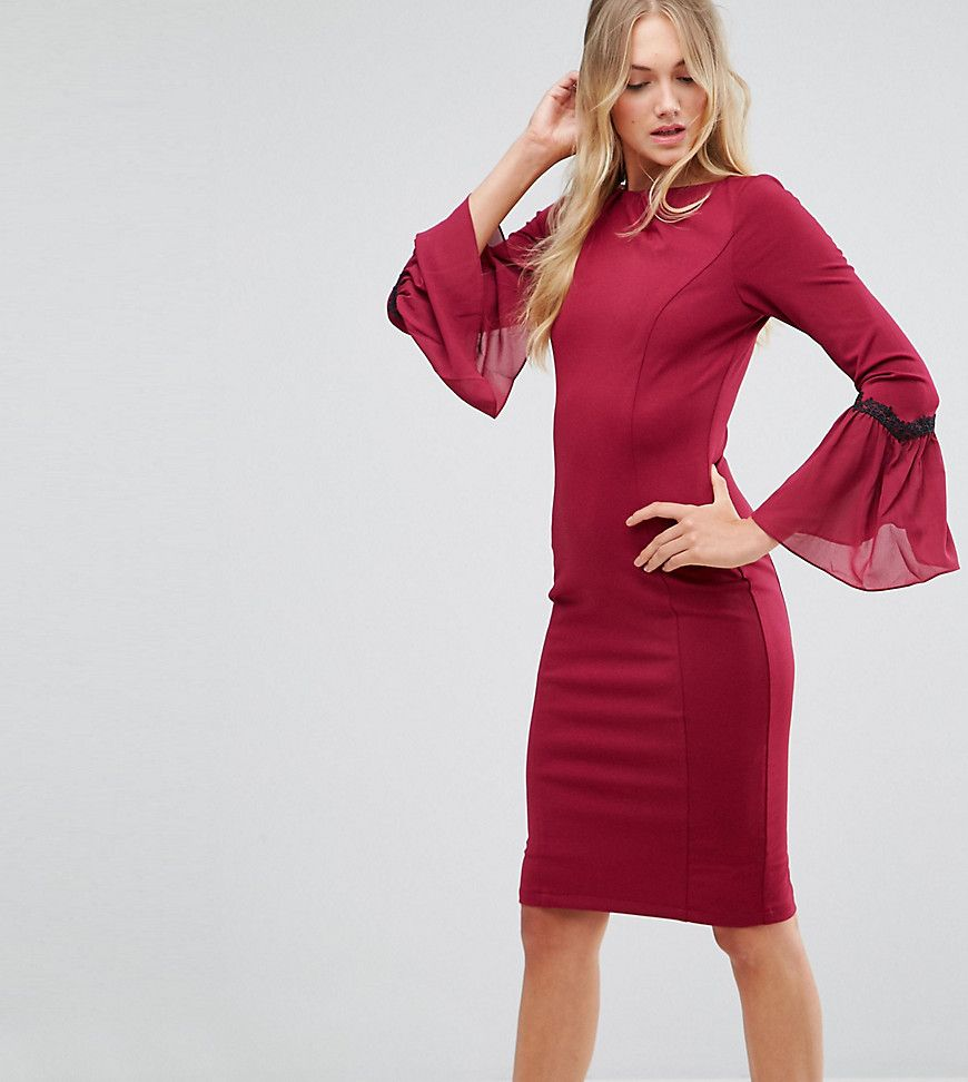Get This Paper Dolls Tall S Midi Dress Now Click For More Details Worldwide Shipping Paper Dolls Long Sleeve High Neck Dress Maxi Dress Prom Red Midi Dress [ 972 x 870 Pixel ]