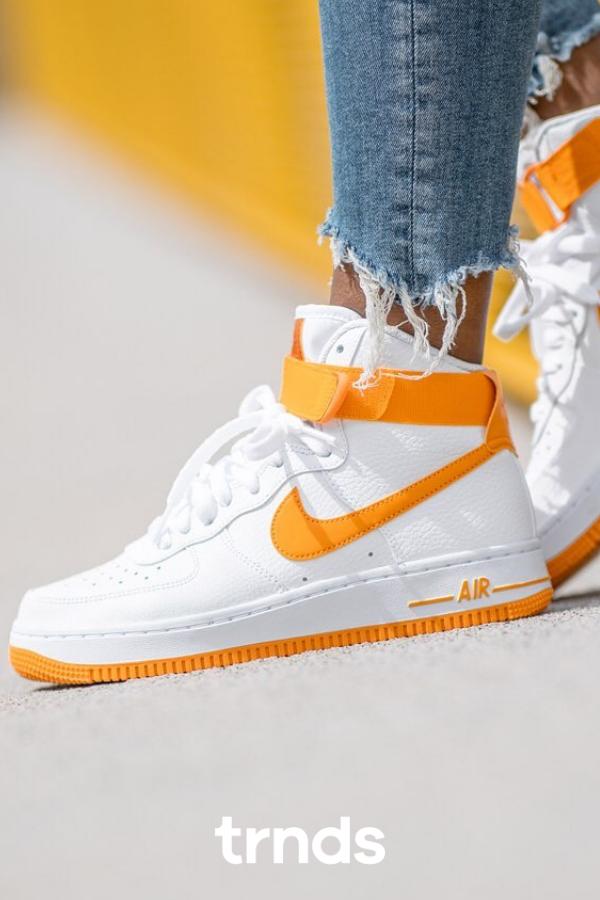 Nike Air Force 1 High White Orange For Women Nike Air Force High Nike Air Force Nike Air
