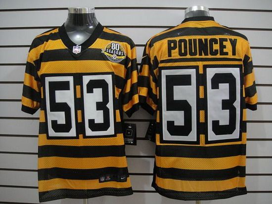 nike steelers 53 maurkice pouncey 80th anniversary throwback mens nfl elite jersey
