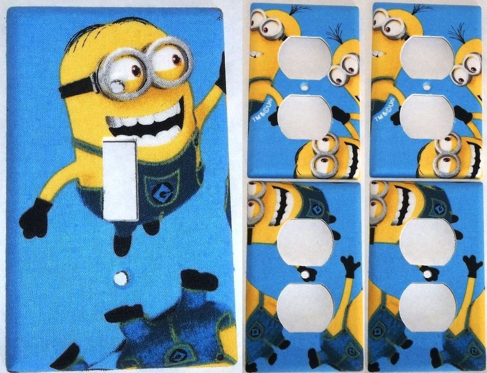Blue Minion Despicable Me Light Switch Cover Bedroom Bathroom Decor Set 1 4  in Home   Garden. Blue Minion Despicable Me Light Switch Cover Bedroom Bathroom