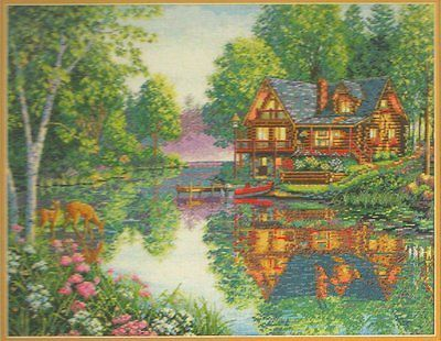 """DIMENSIONS THE GOLD COLLECTION """"CABIN FEVER"""" COUNTED CROSS STITCH KIT"""