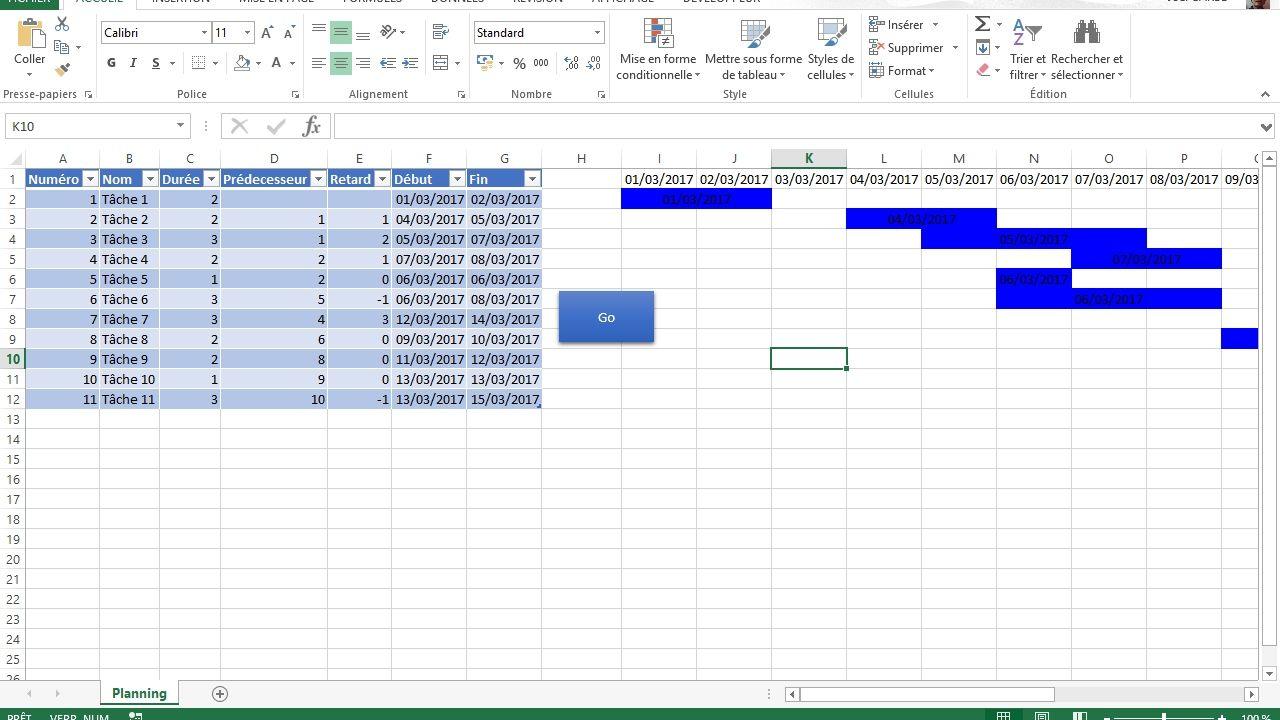 Comment créer un <b>diagramme</b> <b>de</b> <b>Gantt</b> - Microsoft <b>Excel</b>…