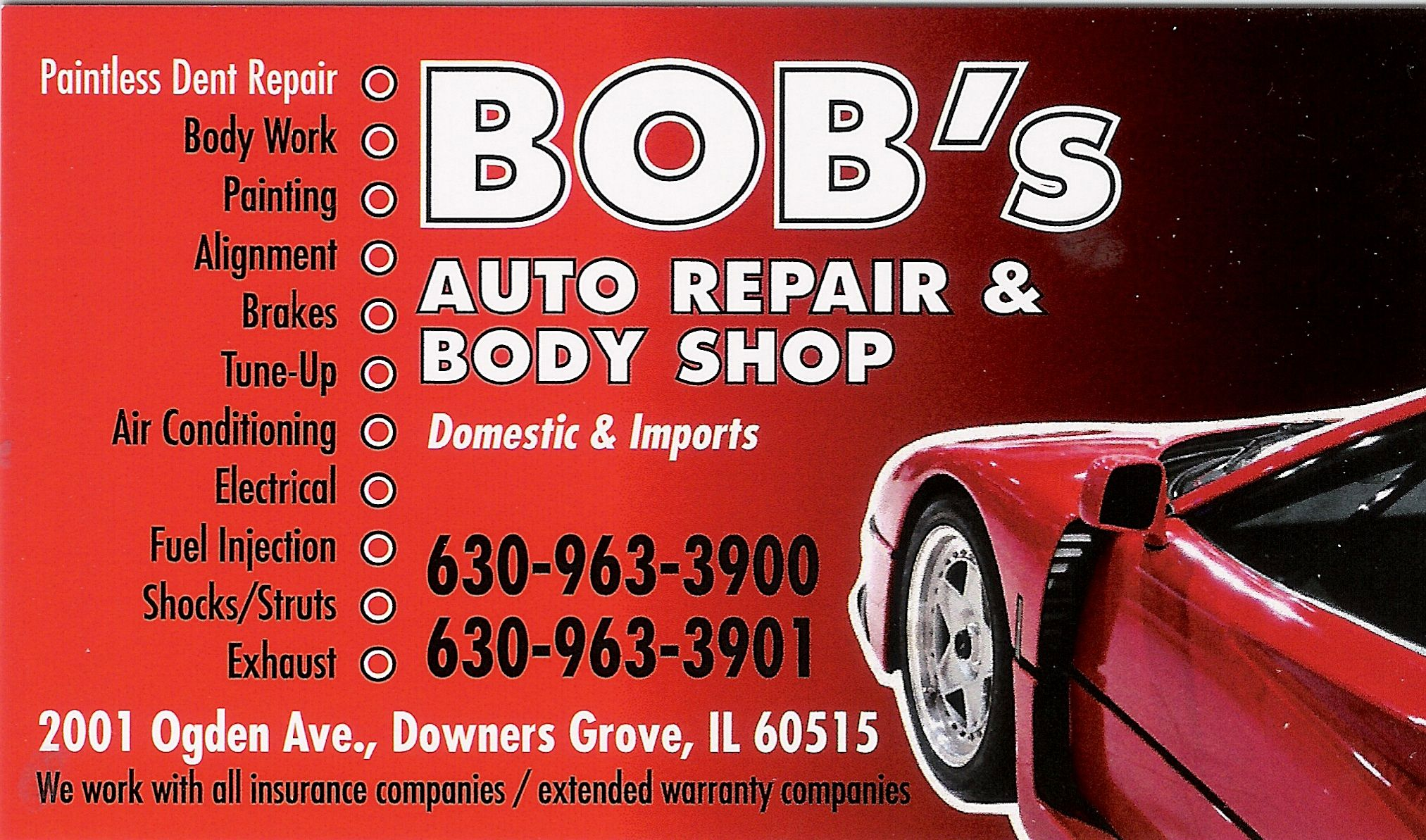 Bob S Automotive Repair Body Shop Window Tinting Paintless Dent Repair The Body Shop Repair Automotive Repair