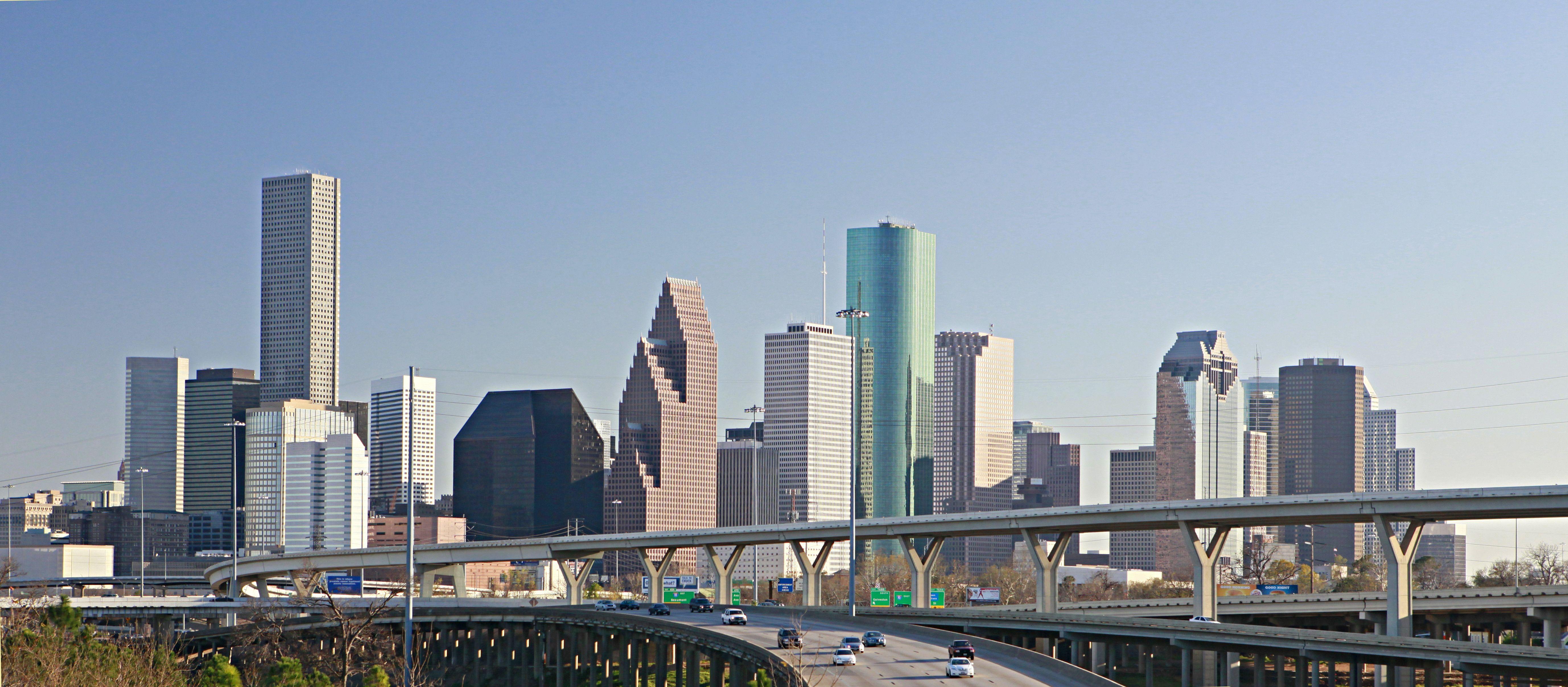 Houston Texas Houston Skyline Downtown Houston City Skyline