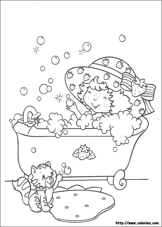coloriage charlotte aux fraises colorier dessin imprimer - Dessin A Colorier Imprimer
