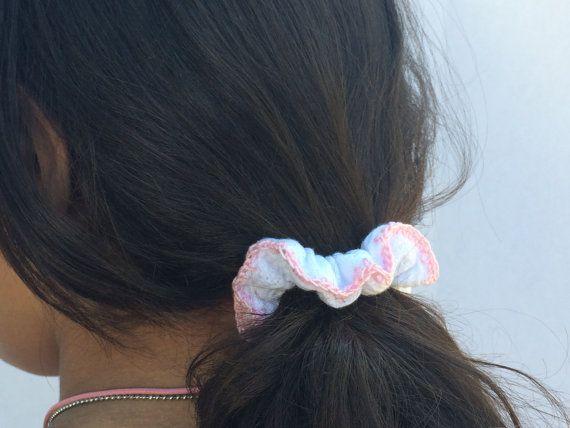 Pink and White Handmade Crochet Hair by CrochetKnitandMix on Etsy