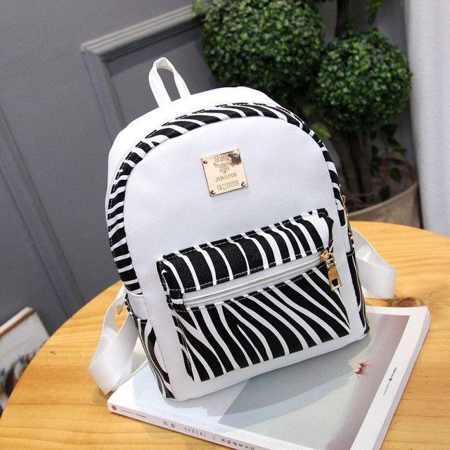 3b371b7e1786 women fashion high quality pu leather waterproof backpack lady cute zebra  shape mini backpack mochila female