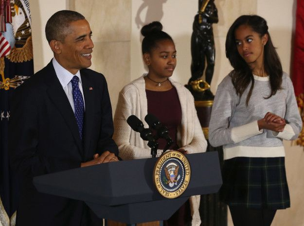 """Then there are those moments when they exchange the classic """"I can't believe dad just told that horrible joke"""" looks that all siblings hold dear.   Malia And Sasha Obama Are National Treasures"""