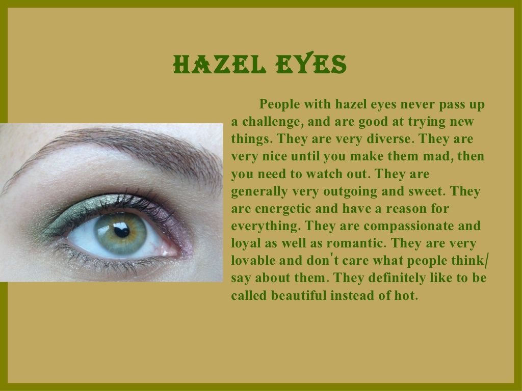 What Does Your Eye Color Say About You | Eye color facts
