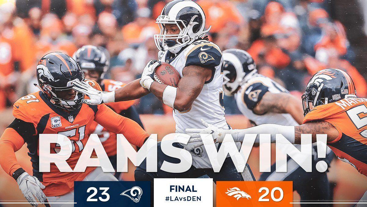 2018 Game 6 on Sun...LA Rams23 vs. Denver Broncos20