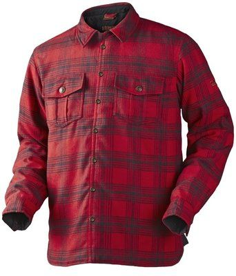 Harkila Latlan shirt jacket - kleur Red check