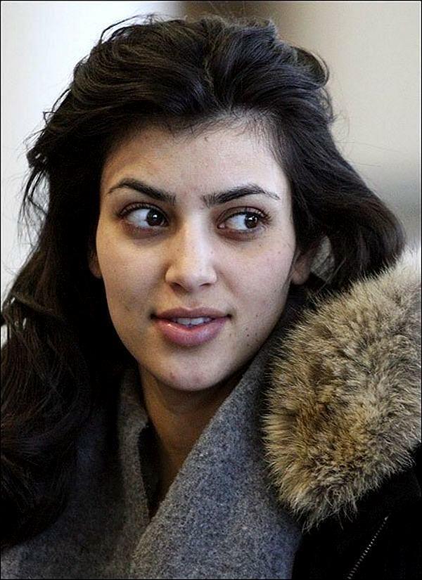 Stars Without Makeup Kim Reality Kim Kardashian