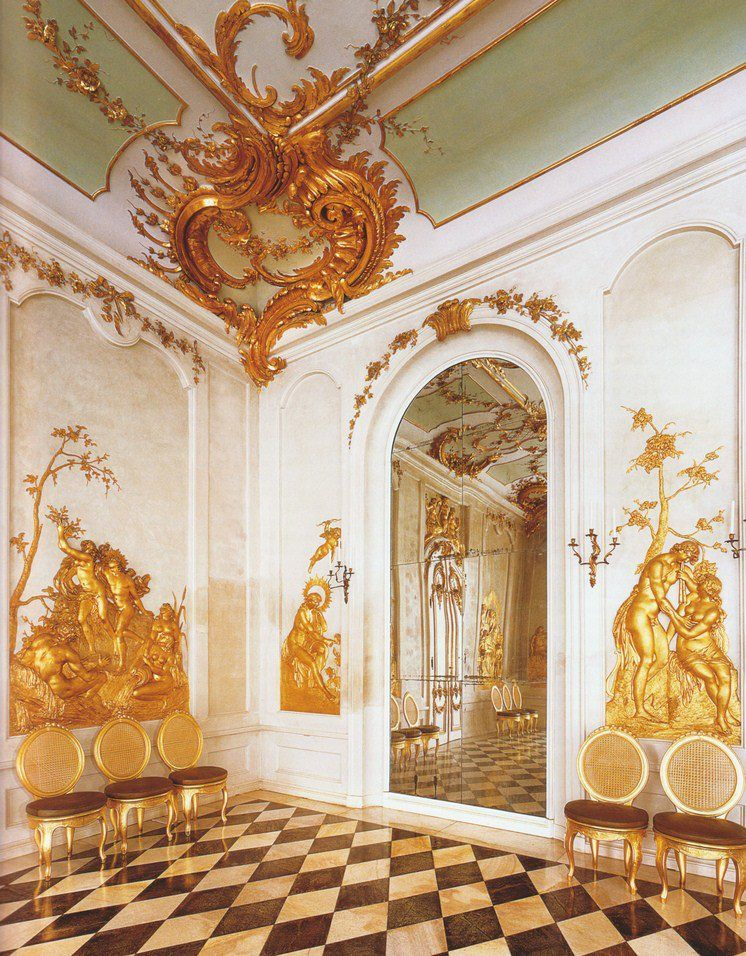 Potsdam, Germany. Schloss Sanssouci, Neue Kammern