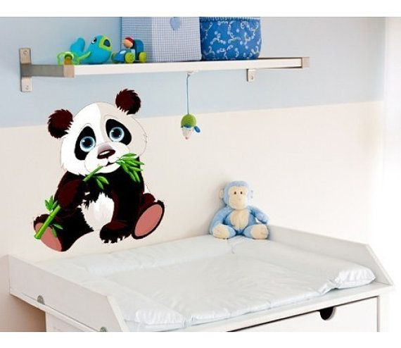 Baby Panda Nursery Wall Decal Deco Sticker Mural By StyleandApply - Custom vinyl wall decals falling off