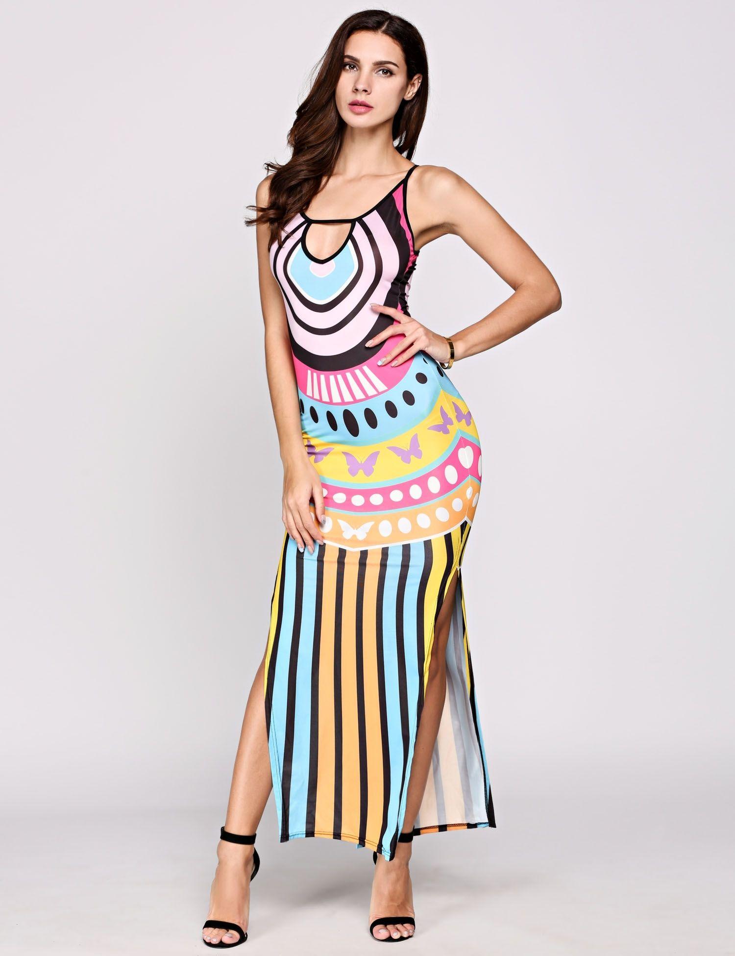 Yellow dress for women  Yellow Sleeveless Cut Halter Dress  ropa q yo me pondria para