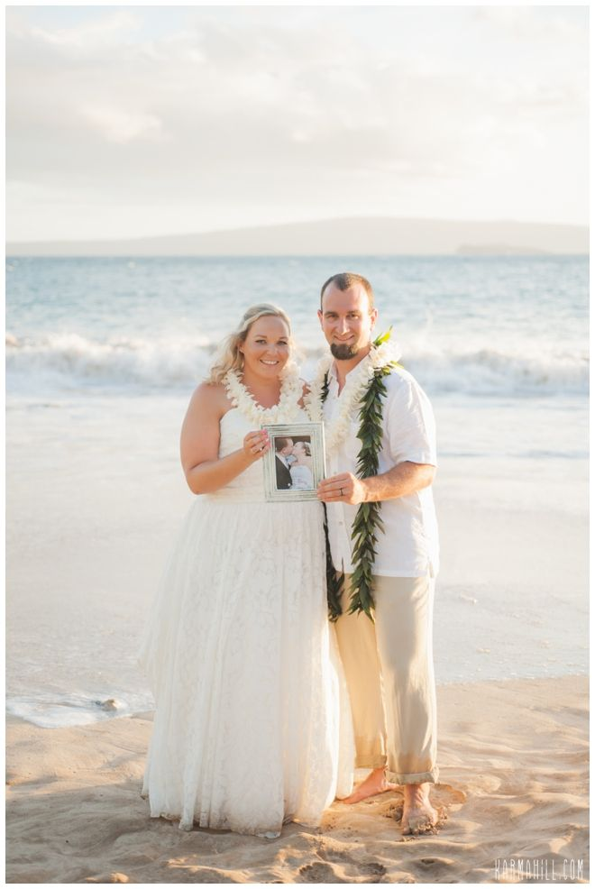 Vow Renewal Portrait Idea Beach