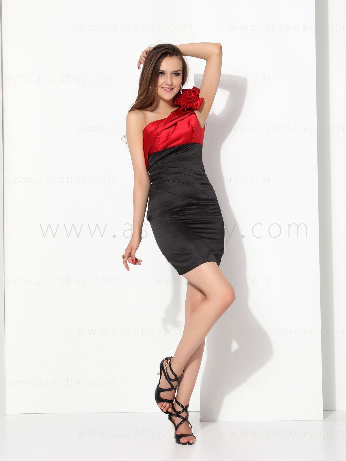 One shoulder short cocktail dress e asapbay short