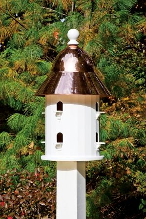 Lazy Hill Farm Bell Bird House With Polished Copper Roof 42413 Bird House Bird Houses Farm Design