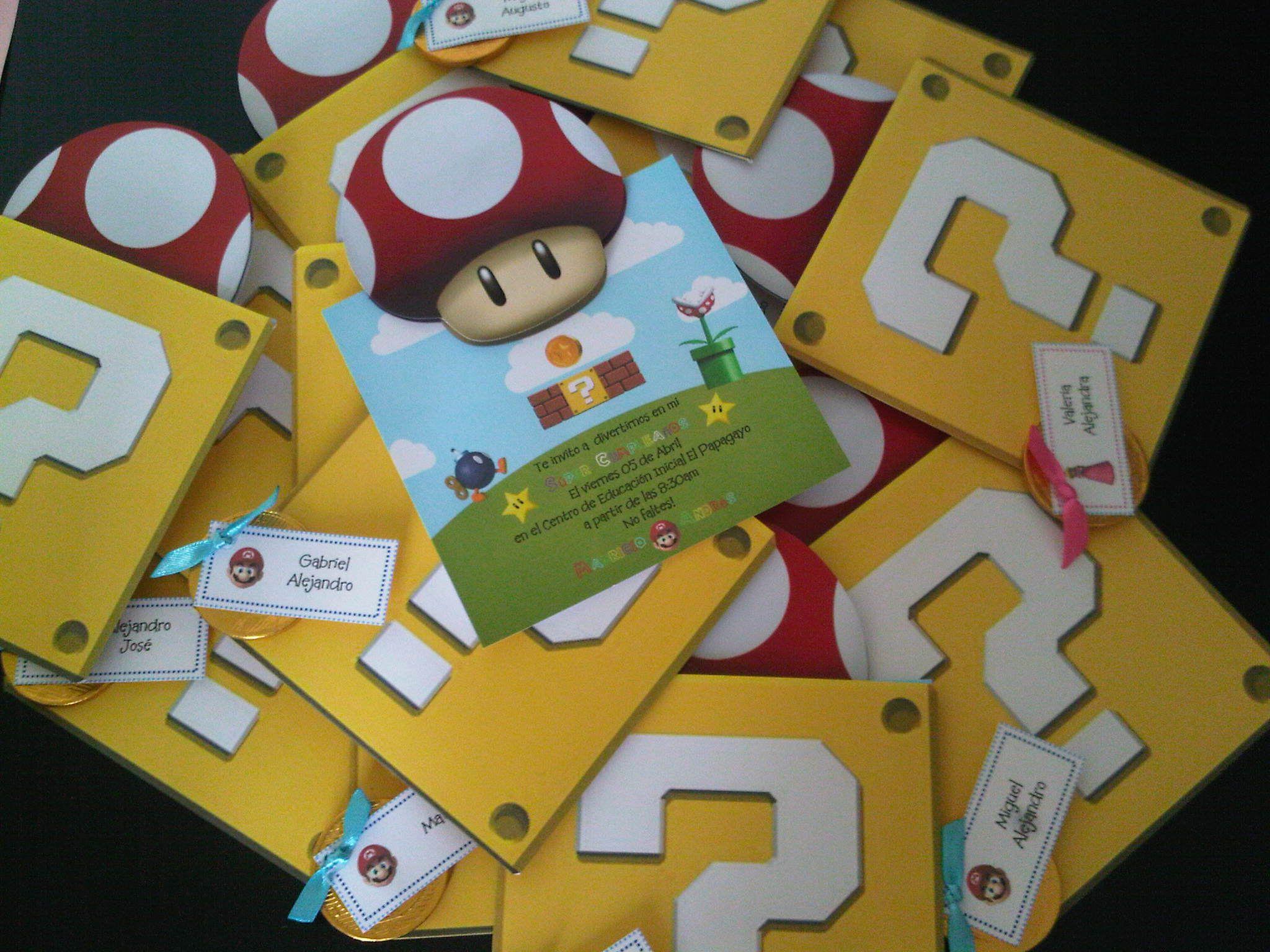 Invitaciones de cumplea os de mario bros tarjetas - Invitacion para cumpleanos ...