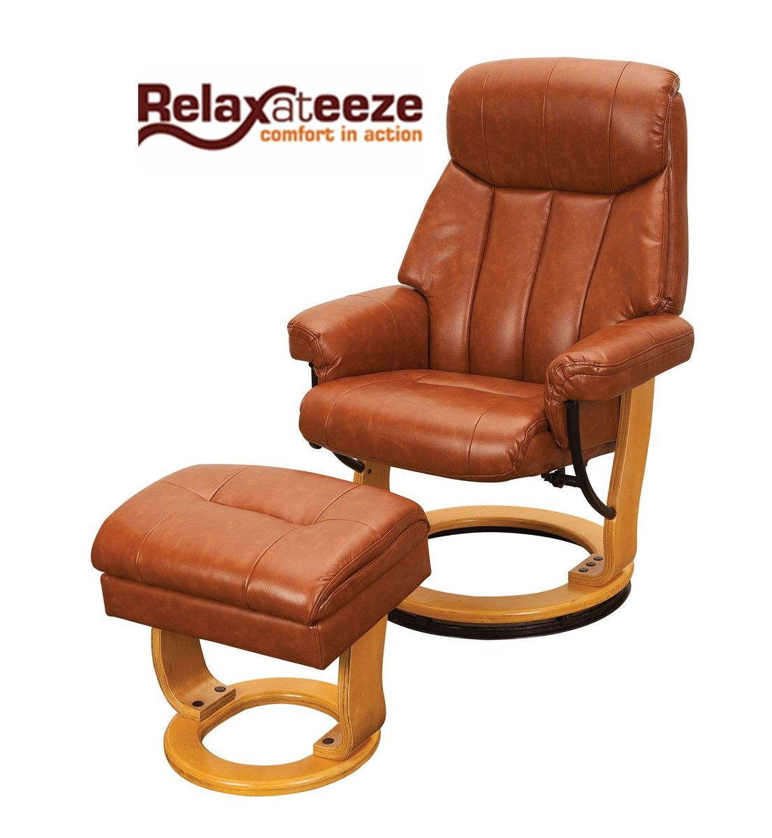 Only £299 Quality Leather Swivel Recliner armchairs With ...