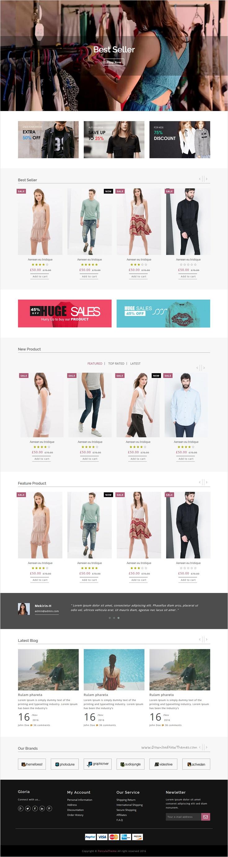 Gloria Bootstrap Template Looks