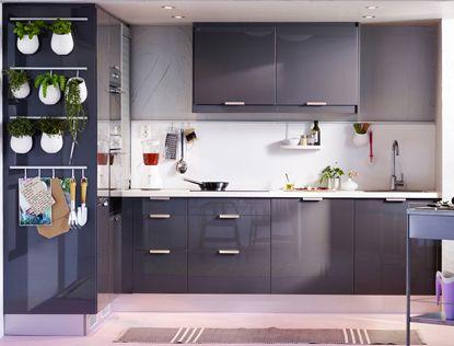 Modèle Faktum / Abstrakt gris chez IKEA | Cuisine idéale ...
