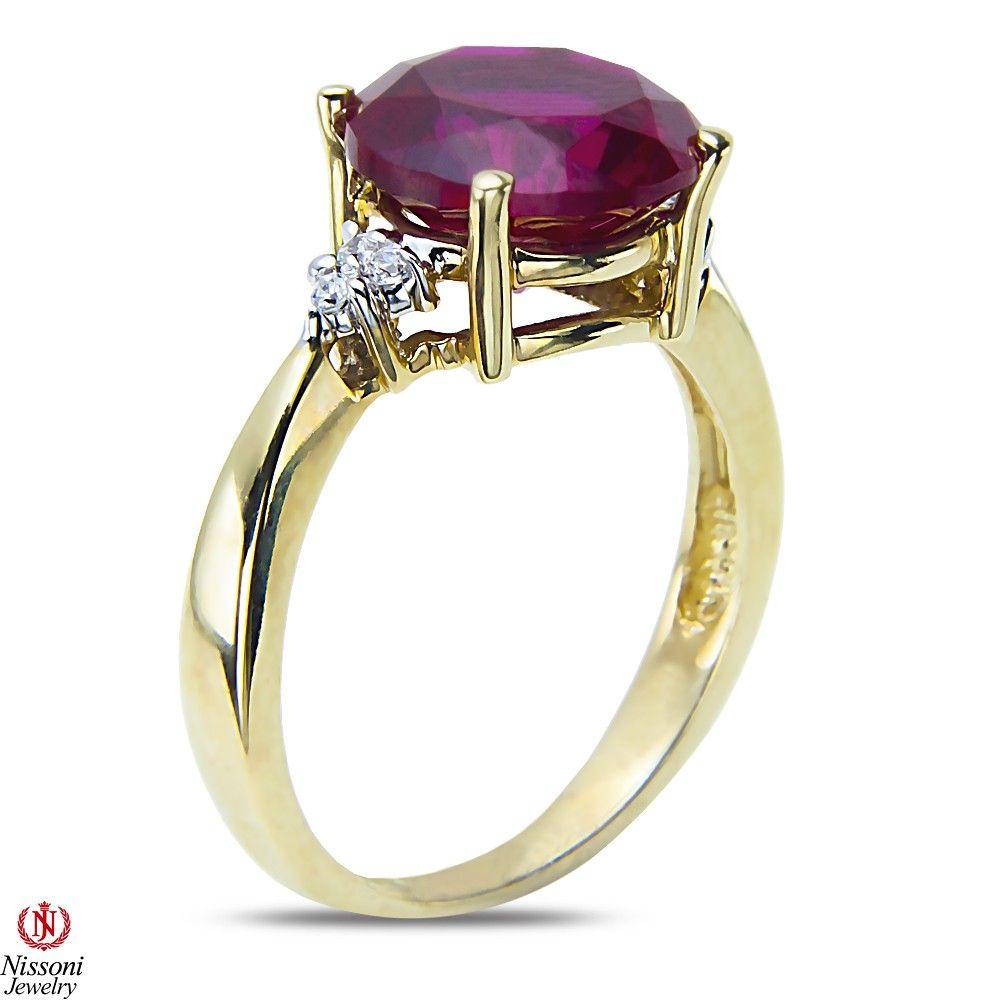 Etsy NissoniJewelry presents - .06CT Diamond Fashion Ring with Created Ruby 10k White Gold  0.06CT    Model Number:CG-4137W077CRU    https://www.etsy.com/ru/listing/275586442/06ct-diamond-fashion-ring-with-created