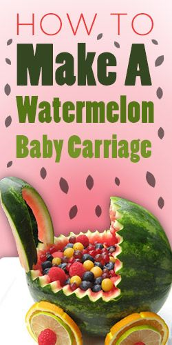 How To: Make A Watermelon Baby Carriage In 2019