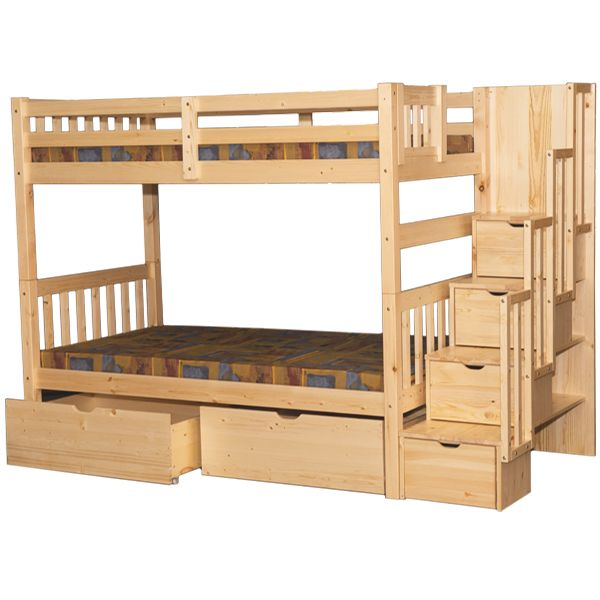 Wynn Stairway Twin Over Twin Bunk Bed Natural In 2018 Furniture