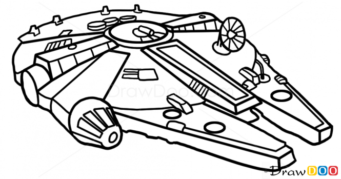 How To Draw Millennium Falcon Star Wars Spaceships