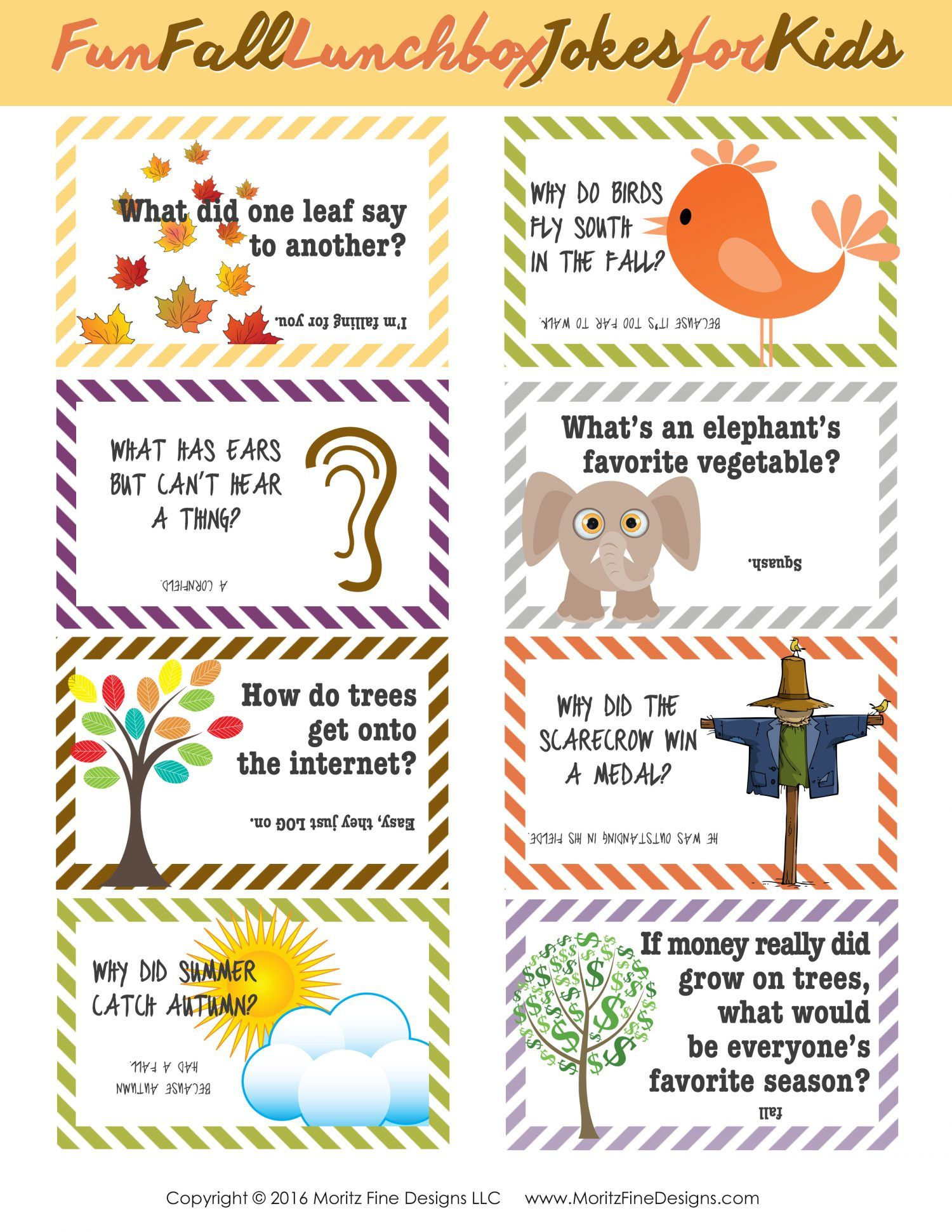Fall Lunch Box Jokes For Kids