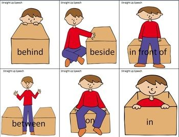 a boy and a box practice with prepositions speech pathologist
