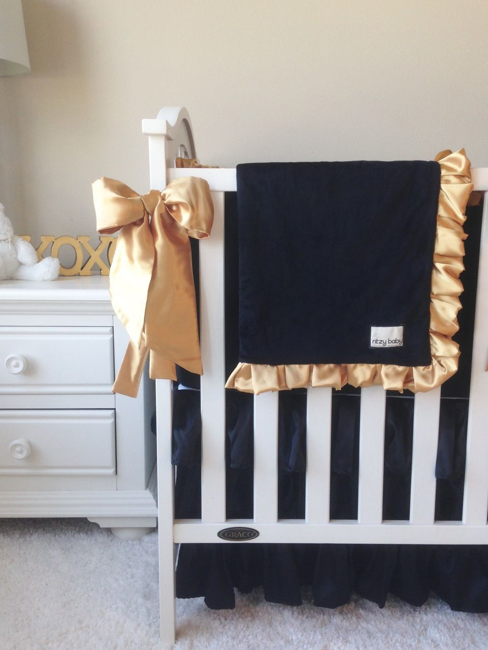 Black And Gold Crib Bedding