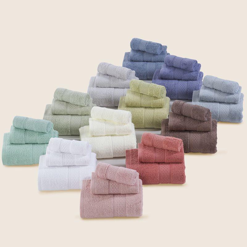 100 Cotton Pure Color 3 Pcs Towel Sets Bath Towels For Adults