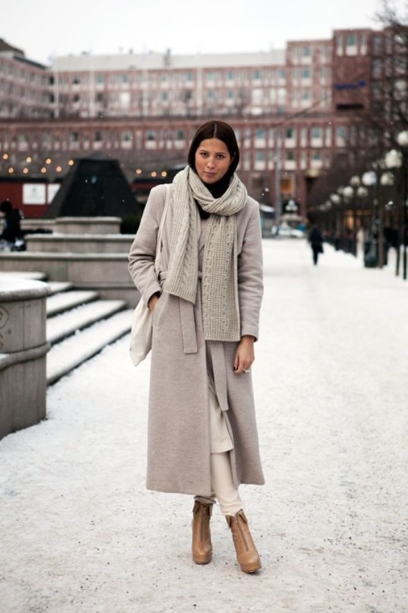 Get The Look Winter Neutrals Street Style Trends Fashion Street Style Winter