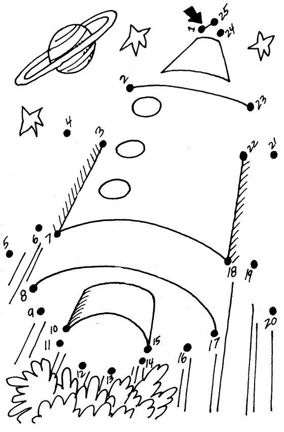 rocket dot to dot printable for